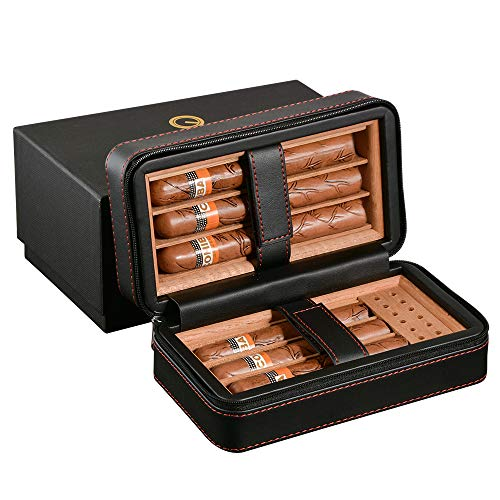 Portable Travel Leather Cigar Case
