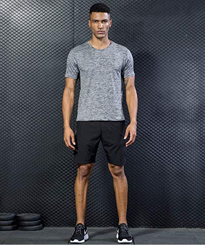5 Pack Men's Active Quick Dry Crew Neck T Shirts   Athletic Running Gym Workout Short Sleeve Tee Tops Bulk 16 Fashion Online Shop gifts for her gifts for him womens full figure