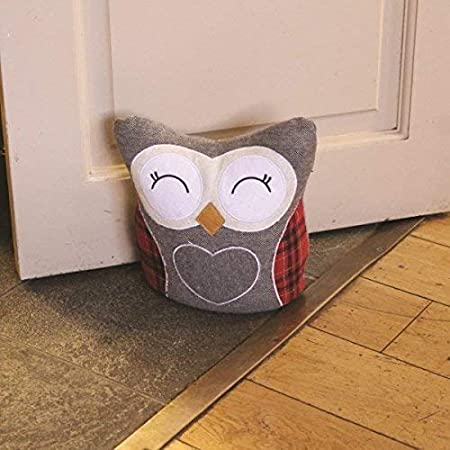 Garden Mile Portable Novelty Animal Weighted Fabric Doorstops Filled Owl Doorstop Ornament Wedge Home Decor Owl Amazon Co Uk Kitchen Home