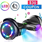 TOMOLOO Hoverboard with Speaker and Colorful LED Lights Self-Balancing Scooter UL2272 Certified 6.5'...