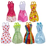 7-Pack Barbie Doll Clothes Handmade Wedding Dress Party Gown Clothes Outfits for Girl's Birthday Gift