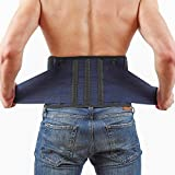Back Support Lower Back Brace Provides Back Pain Relief - Breathable Lumbar Support Belt for Men and Women Keeps Your Spine Straight and Safe (XL - 46''- 52' at Navel Level)