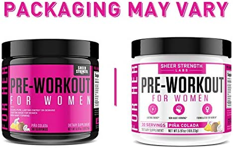Pre Workout for Women with L Arginine (v2) - Energy, Stamina, Healthy Weight Loss | Non-GMO & Non-Habit-Forming | Nitric Oxide Booster Powder Supplement - Sheer Strength Labs, 30 Servings 5