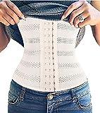 TINGLU Waist Trainer Corset Breathable Invisible Waist Shaper Training Waist Cincher Women Tummy Control(S,Beige2)