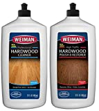 Weiman Hardwood Floor Cleaner & Polish Restorer Combo - 2 Pack - High-Traffic Hardwood Floor, Natural Shine, Removes Scratches, Leaves Protective Layer