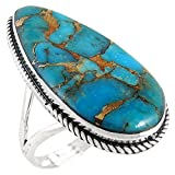 Sterling Silver 925 Genuine Turquoise Ring (11)
