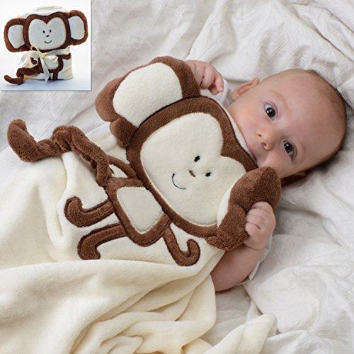 Baby-Touch Plush Unisex Blanket, Monkey
