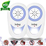 2019 Upgraded Ultrasonic Pest Repeller Plug in - Electronic Pest Control Rеpеllent Mosquito Repeller with LED Night Light-Repels Mice Mosquitoes 2 Pack