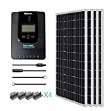 Renogy 400 Watt 12 Volt Monocrystalline Solar Starter Kit with 40A Rover MPPT Charge Controller