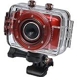 Vivitar DVR783HD HD Waterproof Action Video Camera Camcorder (Red) with Helmet & Bike Mounts
