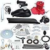 Sange 2 Stroke Pedal Cycle Petrol Gas Motor Conversion Kit Air Cooling Motorized Engine Kit for Motorized Bike (80cc Red)