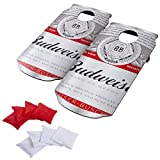 Budweiser Can Design Cornhole Bean Bag Toss Game Set - Includes 2 Boards and 8 Bean Bags!