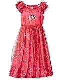 Disney Little Girls' Elena of Avalor Fantasy Nightgown, Red, 4