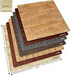 Sorbus Marble Floor Mats Foam Interlocking Marble Mats Each Tile 4 Square Feet 3/8-Inch Thick Puzzle Marble Tiles with Borders - for Home Office Playroom Basement (6 Tiles 24 Sq ft, Grain - Marble)