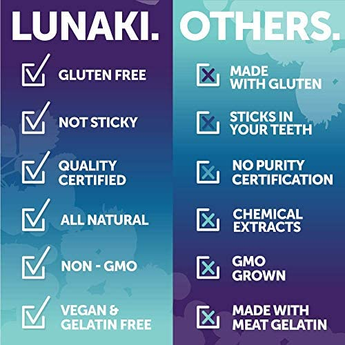 Lunaki Probiotic Gummies for Adults - 5 Billion CFU Probiotics and Prebiotic for Digestive Gut Health with Vitamin C for Women & Men - Non-GMO Vegan All Natural Immunity Detox Chewable Gummy 6