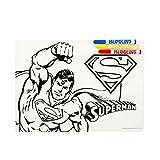 Bumkins Reusable Silicone Coloring Placemat, DC Comics, Superman