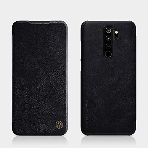 """Nillkin Case for Xiaomi Redmi Note 8 Pro (6.53"""" Inch) Qin Genuine Classic Leather Flip Folio + Card Slot Black Color 1"""