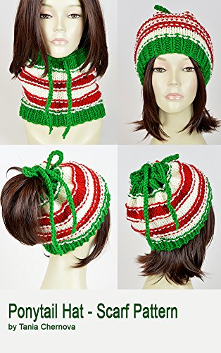 Christmas Hat Pattern Ponytail Hat With Hole Santa Claus Knit Hat