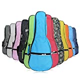 HOT SEAL Waterproof Durable Colorful Ukulele Case Bag with Storage (23/24in, pink)
