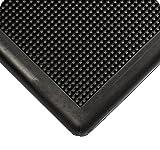 American Floor Mats Pronged Rubber 24' x 32' x 1/2' Black Wall Edge Sanitizing Footbath Floor Mat