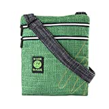 Cross Body Padded Purse - Adjustable Strap & Smell Proof Pouch (Large)(Forest)