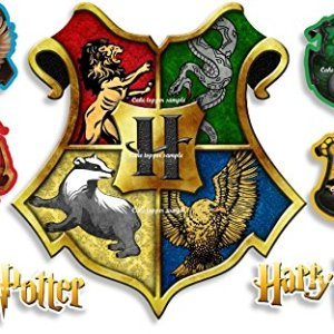 PRECUT EDIBLE HARRY POTTER HOGWARTS CRESTS LARGE 4.5″ ICING CAKE TOPPER & 6 EXTRA'S 516YlYpODyL