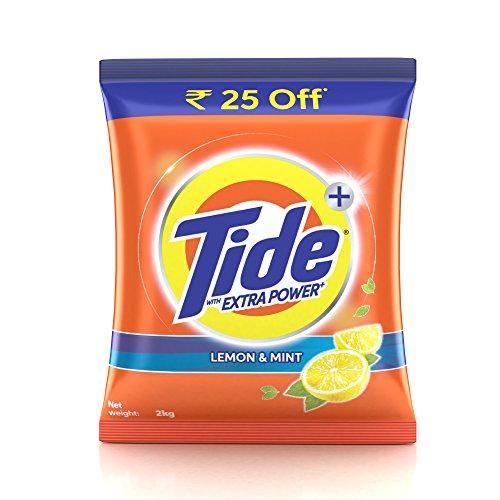 516aPQRU4cL - Tide Plus Extra Power Detergent Washing Powder - 2 kg (Lemon and Mint)