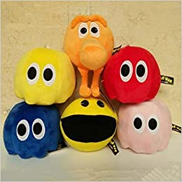 Lsinyan 5pcs Set Newest Pixels Toy Q Bert Qbert Pac Man Soft Stuffed Plush Toys 16cm Ghost Plush Doll Toy 0069646314841 Amazon Com Books