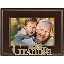Heart Brass Word Grandpa Picture Frame