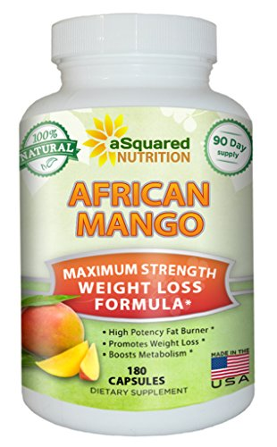 100% Pure African Mango Extract Cleanse (180 Capsules) Plus Raspberry Ketones & Green Tea Complex, Irvingia Gabonensis Seed Fat Burner, Fast Weight Loss Diet Pills Supplements, Detox Drops Slim Prime