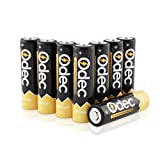 Odec AA Rechargeable Batteries, 2450mAh Ni-MH Deep Cycle Battery Pack(8-Pack )