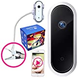 Smartphone Baby Monitor with App and Camera - Iphone, Phone, Android Compatible, Portable WiFi Wireless Smart Infant Video Cam with Optics Crib Mount | Just Clip It | Two-Way Audio HD 1080P by Safeby