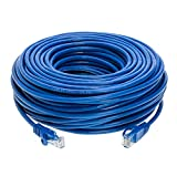 Cat5e 100FT Networking RJ45 Ethernet Patch Cable Xbox \ PC \ Modem \ PS4 \ Router - (100 Feet) Blue