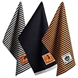 DII Cotton Halloween Holiday Dish Towels, 18x28' Set of 3, Decorative Oversized Embellished Kitchen Towels, Perfect Home and Kitchen Gift-Happy Haunting