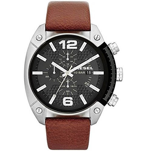 Fashionable and functional leather strap Durable mineral crystal helps protect watch from scratches Analog-quartz Movement