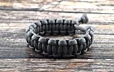 Mad Max Fury Road Tom Hardy Paracord Adjustable Survival Bracelet - Grey - Size 8'
