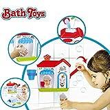 Ice Creams Bubble Bathtub Toy - Happytime Bathroom Foam Cone Factory Making Ice Creams Bubble Machine Bathtub Water Toys for Baby (No Batteries Required)