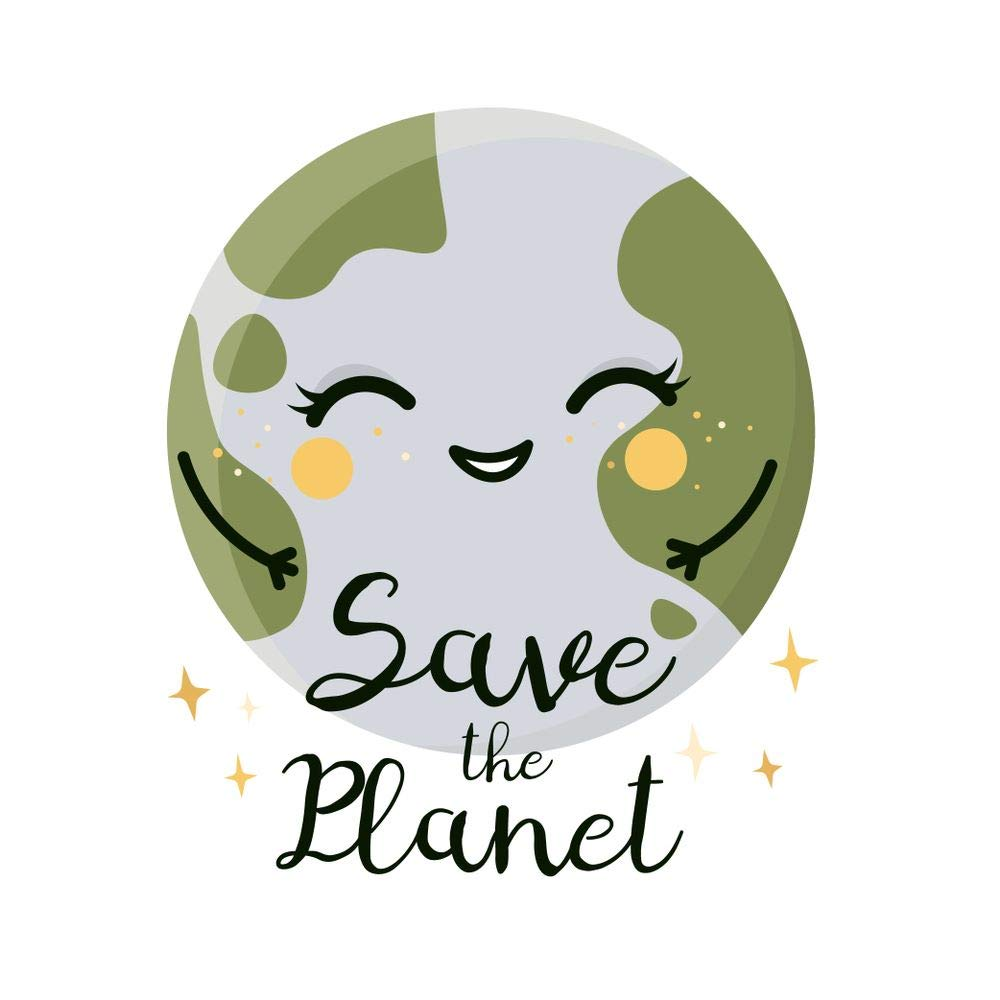 Buy 5 Acea Smiling Cute Earth Globe Sticker Poster Save Water Save Environment Online At Low Prices In India Amazon In