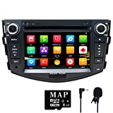 NVGOTEV,Car Stereo GPS Navigator for Toyota RAV4 2006-2012, Double Din Head Unit 7 Inch 2 Din Car Stereo with DVD CD Player Support GPS, USB SD, FM AM RDS, Bluetooth, SWC(Wince 6.0 System)