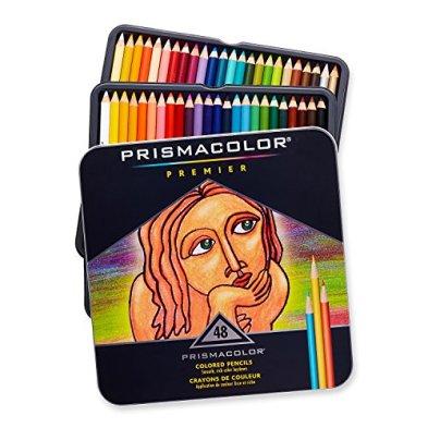 Prismacolor 3598T Premier Colored Pencils, Soft Core, 48 Pack