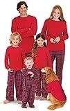 PajamaGram Family Christmas Pajamas Set - Cotton Flannel, Red, Womens, 2X, 24-26