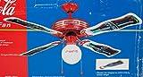 1998 Coca Cola Ceiling Fan 44' Blade Span - Soda Shop Retro Style - Bottle Shaped Blades - NIB