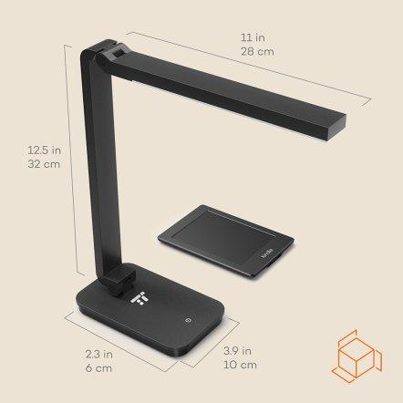 Abmessungen - TaoTronics TT-DL26 LED Schreibtischlampe