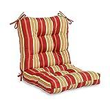 Greendale Home Fashions Outdoor Seat/Back Chair Cushion, Roma Stripe