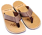 Mio Marino Beach Flip Flops For Men - Comfortable Flip Flop Sandals - Waterproof Bag (Brown, 8)