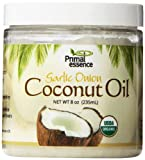 Primal Essence Coconut Oil, Infused Onion Garlic, 0.5 Pound