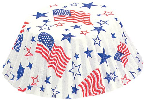 Fox Run 4920 Patriotic Bake Cups, Standard, 50 Cups