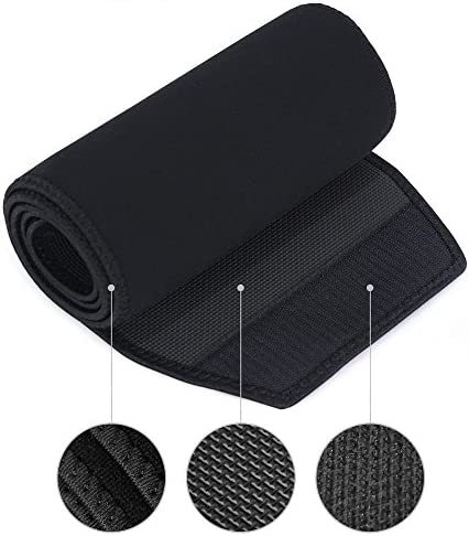 Bracoo Premium Waist Trimmer Wrap (Broad Coverage), Sweat Sauna Slim Belt for Men and Women - Abdominal Trainer, Increased Core Stability, Metabolic Rate, SE22 (L/XL) Black 4