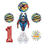 Superman 1st Birthday Party Supplies and Balloon Decoration