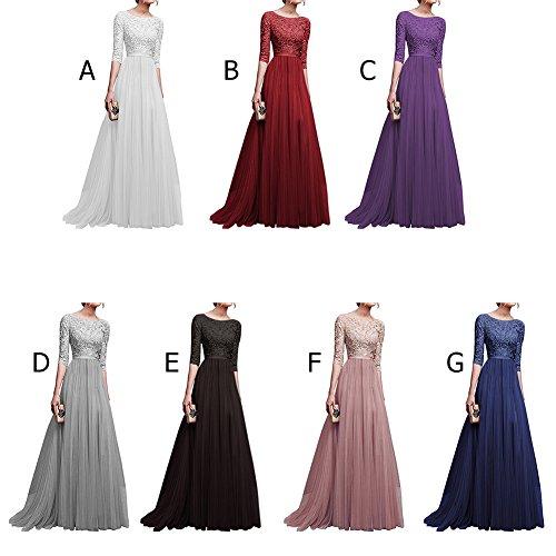 IBTOM CASTLE Womens Vintage Lace Bridesmaid Long Dresses Prom ...